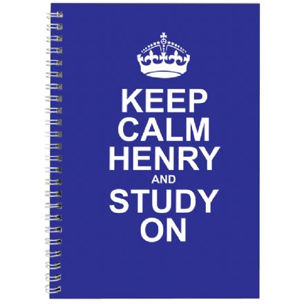 Personalised A5 Notebook - Keep Calm Blue